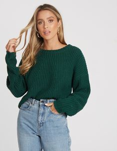 Casual Outfits, Cute Outfits, Casual Clothes, Green Jumpers, Cable Knit Jumper, Staple Pieces, Fitness Models, Turtle Neck, Take That