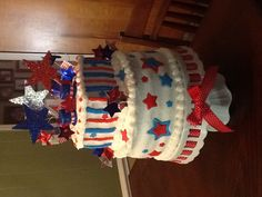 Beccas all american bday cake
