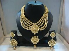 Polki Wedding jewelry,  Kundan wedding necklace, bridal jewelry