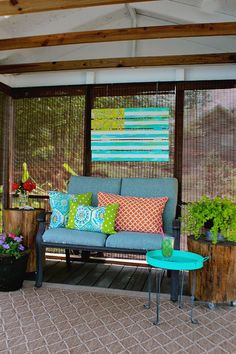 Coastal Ocean Beach Inspired Flag - #upcycle #paintproject Debbie Westbrooks.......for those of us that love the beach but especially the low country, this is a perfect space! Thanks, Debbie