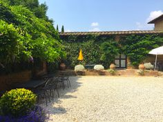 The courtyard at the Fattoria del Colle estate in Trequanda, Tuscany. #iliveitaly #Tuscany