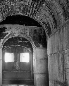 Abandoned Fort Tunnel B&W Photograph  8x10 Ready to by SCStudios