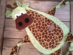 Giraffe Blanket Giraffe Blankie Giraffe Lovie Security by TiedByTi Giraffe Blanket, Tag Blanket, Baby Security Blanket, Giraffe Baby, Sensory Blanket, Baby Crafts, New Baby Gifts, Baby Sewing, Baby Quilts