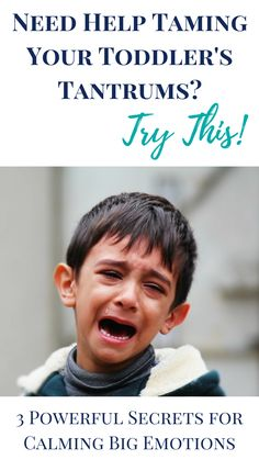 Toddler tantrums take on all kinds of shapes and sizes. These colossal meltdowns are unpleasant for parents and children. Big emotions are exerted and are typically accompanied by yelling, crying, hitting or some kind of physical outburst. Thankfully, there are powerful secrets for calming big emotions. Tap here to discover the solution for taming your toddler's tantrums today.
