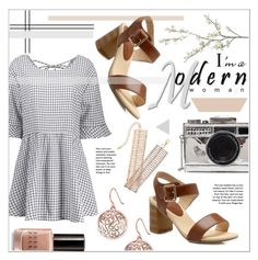 """""""Modern woman"""" by fash-outfit ❤ liked on Polyvore featuring Pour Les Femmes, Bobbi Brown Cosmetics, Pier 1 Imports and modern"""