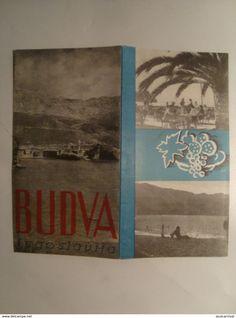 Dépliants turistici - BUDVA. JUGOSLAVIJA - YUGOSLAVIA, MONTENEGRO, 1950 APROX. 8 PAGE BROCHURE.