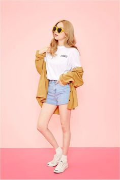 Look korean fashion shorts, korea style fashion, korea summer fashion, casual street style Korea Summer Fashion, Korea Fashion, Pop Fashion, Asian Fashion, Trendy Fashion, Style Fashion, Fashion Ideas, Fashion Outfits, K Fashion Casual