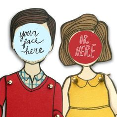 Personalized paper doll of Mom and the rest of the family