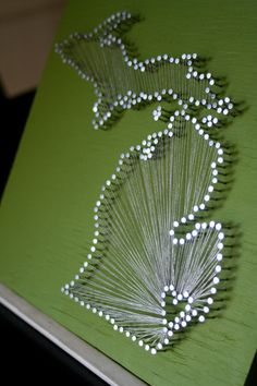 Michigan Themed String Art - My heart lies in the Lansing area.