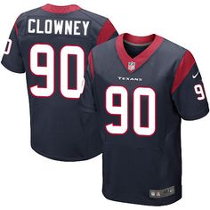 Nike Elite Jadeveon Clowney Navy Blue Men's Jersey - Houston Texans #90 NFL Home