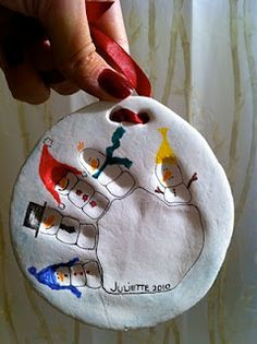 Wish i had this one when the kids were little   So cute!!  Handprint Christmas Ornament