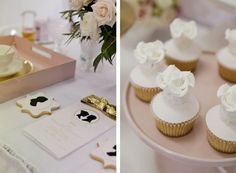 Little Big Company Pink and gold silhouette themed wedding with Blooms Design online paperie