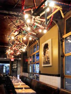 Multi-colored Bicycle Chandelier at the Drake Hotel Cafe - Toronto