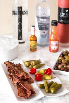 DIY Bloody Mary Bar | pigofthemonth.com/blog