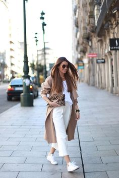 69 Ideas Sneakers Outfit White Camel Coat For 2019 Summer Work Outfits, Office Outfits, Mode Outfits, Chic Outfits, Fall Outfits, Fashion Outfits, Womens Fashion, Office Wear, Look Fashion