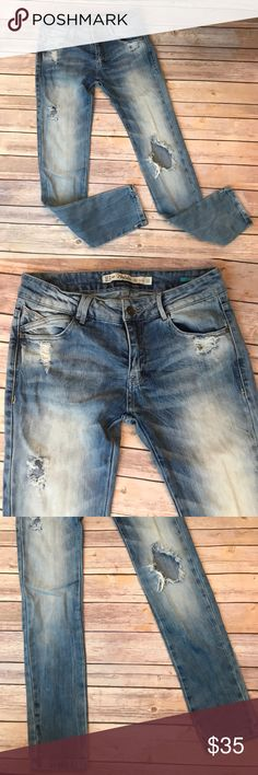 Zara trafaluc slim distressed torn jeans Excellent condition. Zara Jeans Skinny