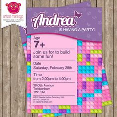 LEGO Friends Inspired Invitation More Lego Birthday Party