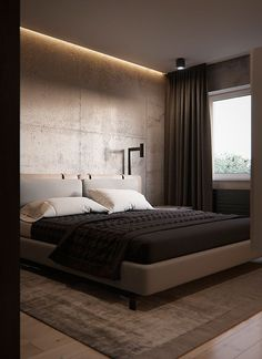 Modern Master Bedroom Design Awesome Bh Sergey Makhno Architects On Behance Master Bedroom Interior, Modern Master Bedroom, Master Bedroom Makeover, Modern Bedroom Design, Minimalist Bedroom, Contemporary Bedroom, Home Interior, Bedroom Designs, Hotel Bedroom Design