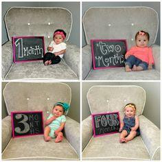 all things katie marie: Chalkboard Tracker ~ 4 Months