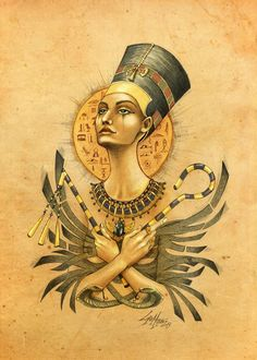 Nefertiti  Is not new my love for ancient cultures, is part of me and always will inspire me.  This comes from a memory of my childhood, when i did one of my first drawings on Nefertiti. I don't have anymore that drawing...so i just want to celebrate a new one.  http://www.behance.net/Lorenassisi