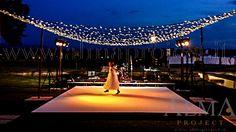 ALMA PROJECT @ Villa di Maiano - dancefloor - white - fairy lights - amber light