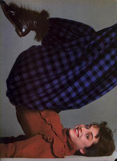 """""""The Spirit Of The Age"""", Vogue US, October 1981  Photographer : Richard Avedon  Model : Nastassja Kinski Uploaded by 80s-90s-supermodels.tumblr.com"""