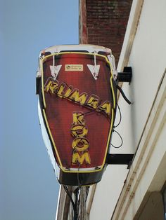 Rumba Room ~ Figural Neon Drum Sign. Awesome! Memphis, Tennessee