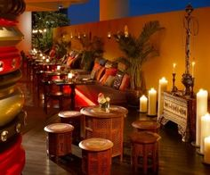 The Beautiful Candle Of Asian Restaurant Interior Design