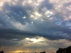 Dreigende wolkenlucht, namiddag september