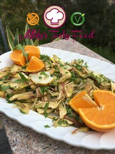 -RAW ARTICHOKES WITH PEARS AND ROCKET -Carciofi con pere #allrecipes #vegan #glutenfree #rawrecipes #rawvegetables