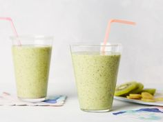 Get Kiwi-Ginger Zinger Protein Smoothie Recipe from Food Network