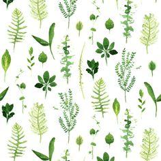 Leaves Zig Zag fabric by crumpetsandcrabsticks on Spoonflower - custom fabric
