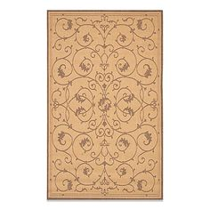 The distinctive Couristan Veranda Indoor/Outdoor Rug in Natural/Cocoa has a classic style that works equally well indoors or out. The chic color palette of this all-weather, pet friendly rug is designed to make outdoor spaces warmer.