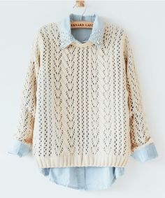 This Pin was discovered by Lollimobile Accessories for Girls. Discover (and save!) your own Pins on Pinterest. | See more about knit sweaters, denim shirts and collar shirts.