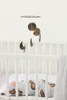 Moon Phase Wood Mobile Geometric Baby Boy Girl by TheDreamBarn