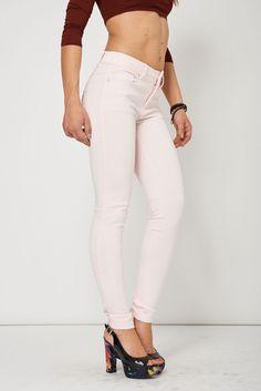 Womens Ladies Trousers Soft Pink Slim Jeggings Casual Wear Leggings Pants