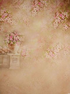 Newborn Baby Floral Photography Backdrops Pink by katehome2014