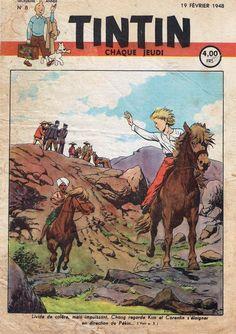 Le Journal de Tintin - Edition Belge - N° 74 - 1948-08 - Jeudi 19 Février 1948 - Couverture : Paul Cuvelier