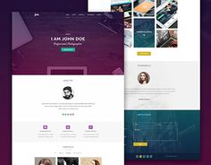 """Check out new work on my @Behance portfolio: """"Maker - Personal HTML Template"""" http://be.net/gallery/47832831/Maker-Personal-HTML-Template"""