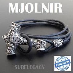 Mjolnir, Mjolnir bracelet, Viking Bracelet, Thors Hammer, Viking Jewelry, Runes, viking rune bracelet, Norse Mythology, Mjollnir Mjölnir, Mjolnir leather bracelet, Viking leather Bracelet, Thors Hammer Bracelet, Mjolnir Amulet Norse Bracelet, Norse Mythology Viking Jewelry, Viking
