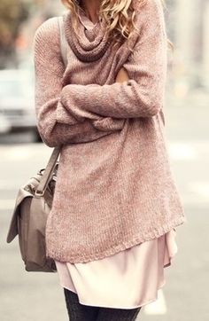 oversized sweater. Fall autumn street women fashion outfit clothing style apparel @roressclothes closet ideas