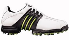 adidas 08 Tour 360 II Golf Shoe Running White/Graphite/Slime FEATURES: 1-year waterproof warranty 360WRAP support system securely surrounds the foot for an ultra-stable hitting platform Full-grain leather upper combines with TPU to provide superior beauty and d http://www.comparestoreprices.co.uk/golf-shoes/adidas-08-tour-360-ii-golf-shoe-running-white-graphite-slime.asp