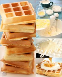 Crispy Belgian Waffle recipe with 4 tips that make these the BEST waffles ever! Simple waffle recipe that everyone loves. Best Crispy Waffle Recipe, Easy Belgian Waffle Recipe, Belgian Waffle Maker, Waffle Maker Recipes, Pancake Recipes, Breakfast Dishes, Breakfast Ideas, Mexican Breakfast, Breakfast