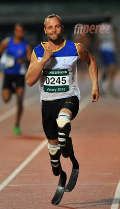 Oscar Pistorius  is very close to qualifying for the London Olympics, not the Paralympics, the Olympics.  Wow!
