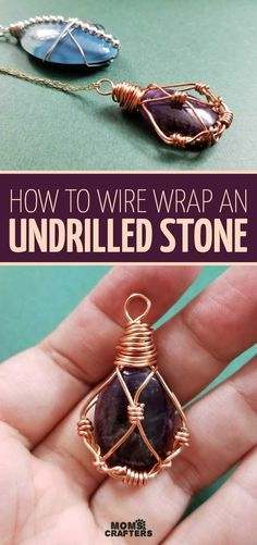 gemstone jewelry Learn how to wire wrap stones without holes with this DIY wire wrap stone pendant tutorial! You can try the simpler wire wrap cabochon project that I've shared just a week ago, or scroll down Wire Wrapped Pendant, Wire Wrapped Jewelry, Beaded Jewelry, Make Jewelry, Diy Jewelry With Stones, Stone Jewelry, Wire Wrapped Stones, Boho Jewelry, Diy Jewelry Gifts