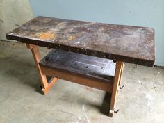 Work Table, Metal Edge from Black Dog Salvage