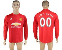 1137755e68b 16-17 Manchester united home long sleeve red soccer jersey football jerseys  man united shirt