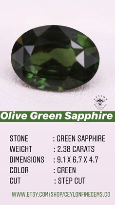 Green Sapphire Engagement Ring, Green Sapphire Ring, Ceylon Sapphire, Sapphire Stone, Natural Sapphire, Green Gemstones, Loose Gemstones, Ring Settings, Love Symbols