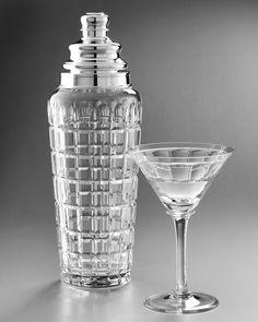 William Yeoward Crystal Cocktail Shaker & Martini Glass