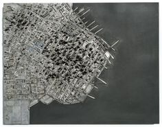 Type City is a recent artwork by artist Hong Seon Jang that uses pieces of movable type from a printing press to create an elaborate cityscape.